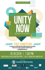 2nd Annual UNITY NOW Worship Experience @ Moncton Wesleyan Celebration Centre